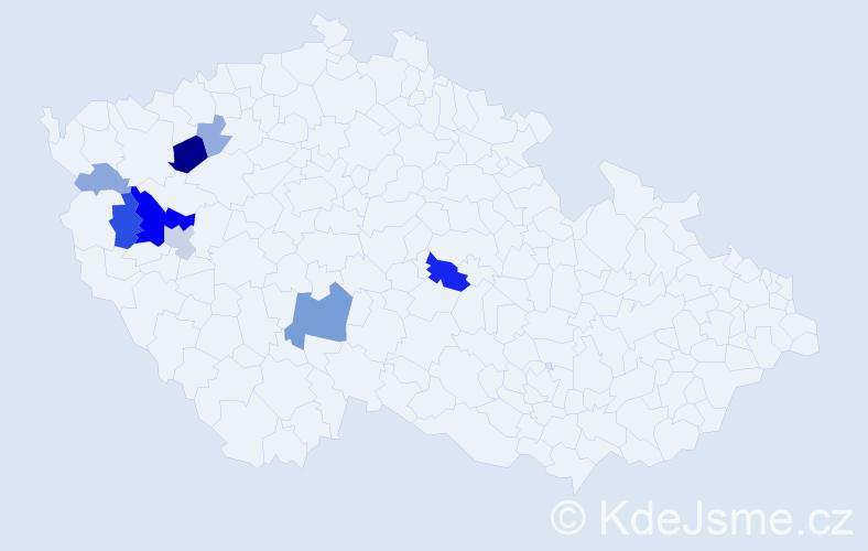 Příjmení: 'Konstantinovič', počet výskytů 24 v celé ČR