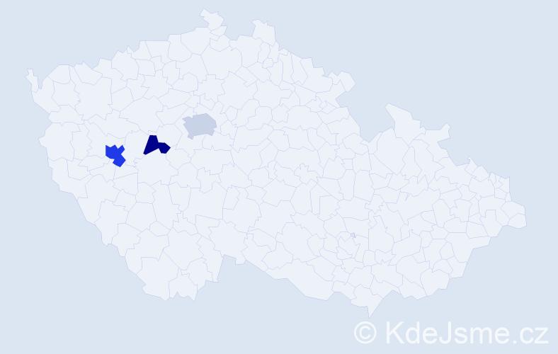 Příjmení: 'Jerneková', počet výskytů 6 v celé ČR