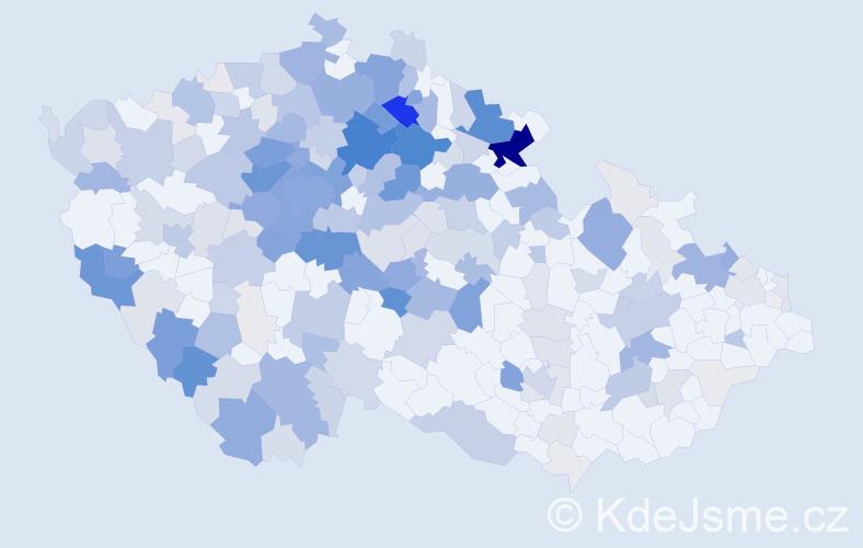 Příjmení: 'Bernardová', počet výskytů 965 v celé ČR