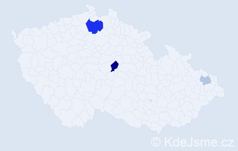Příjmení: 'Emmel', počet výskytů 4 v celé ČR
