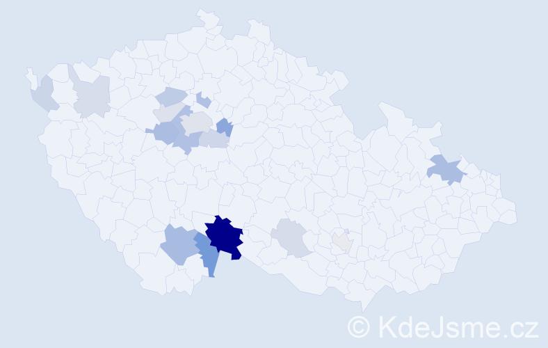 Příjmení: 'Kaiseršotová', počet výskytů 42 v celé ČR