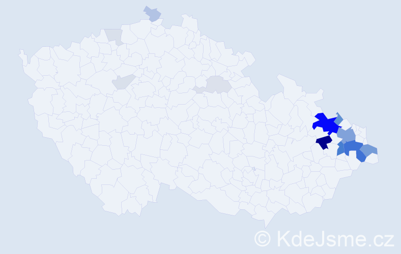Příjmení: 'Berek', počet výskytů 57 v celé ČR