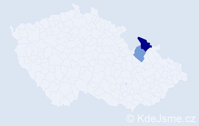 Příjmení: 'Fujašová', počet výskytů 3 v celé ČR