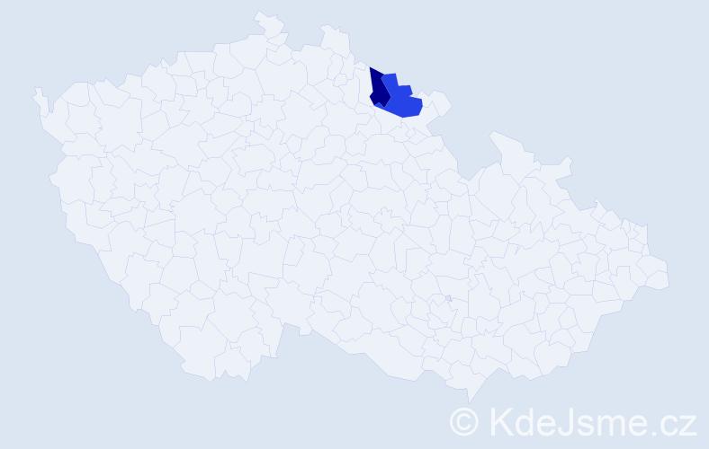 Příjmení: 'Čerťuk', počet výskytů 5 v celé ČR