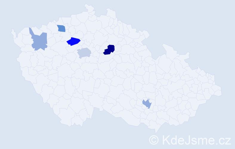 Příjmení: 'Ghanem', počet výskytů 14 v celé ČR