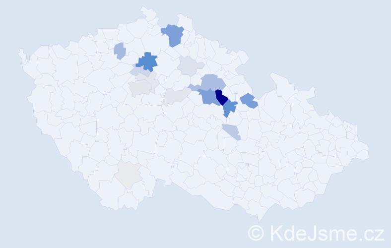 Příjmení: 'Brandýský', počet výskytů 77 v celé ČR