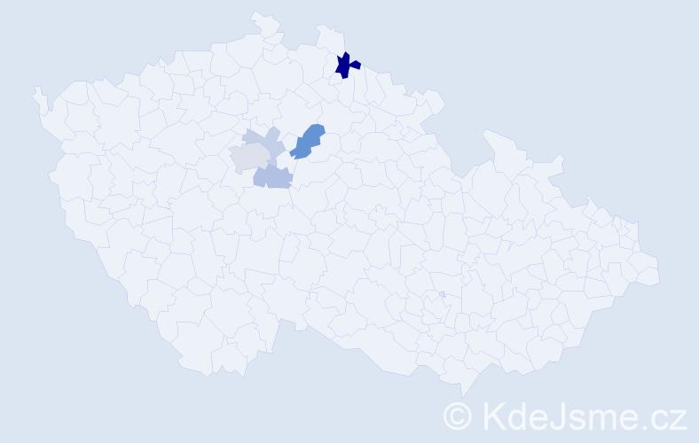 Příjmení: 'Krams', počet výskytů 11 v celé ČR