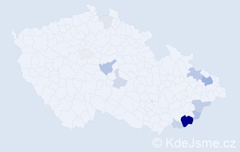 Příjmení: 'Lahutová', počet výskytů 42 v celé ČR