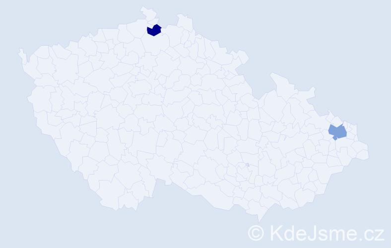 Příjmení: 'Kondéová', počet výskytů 3 v celé ČR