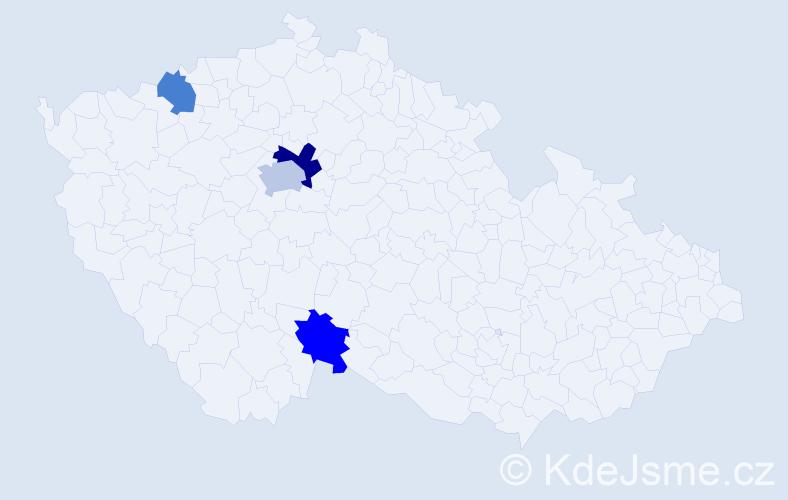 Příjmení: 'Greč', počet výskytů 6 v celé ČR