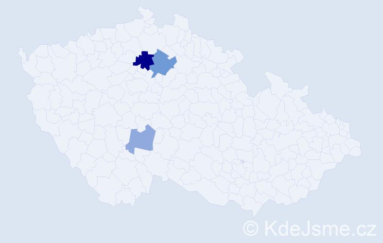 Příjmení: 'Grát', počet výskytů 6 v celé ČR