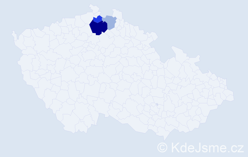 Příjmení: 'Cichák', počet výskytů 12 v celé ČR