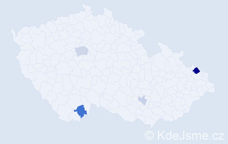 Příjmení: 'Banks', počet výskytů 12 v celé ČR