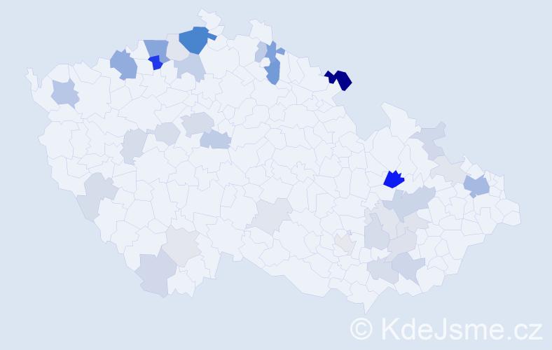 Příjmení: 'Bräuer', počet výskytů 101 v celé ČR