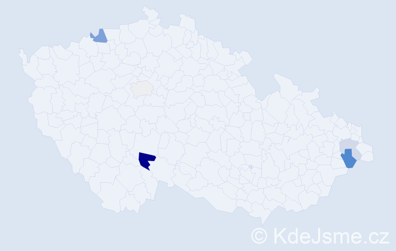 Příjmení: 'Kerzl', počet výskytů 10 v celé ČR