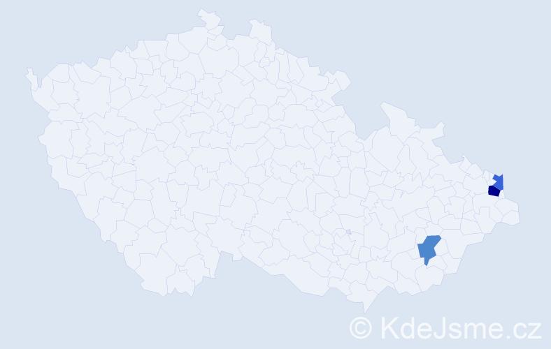 Příjmení: 'Drobny', počet výskytů 4 v celé ČR