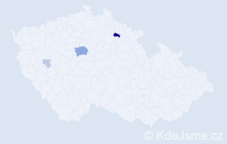 Příjmení: 'Crkovská', počet výskytů 12 v celé ČR