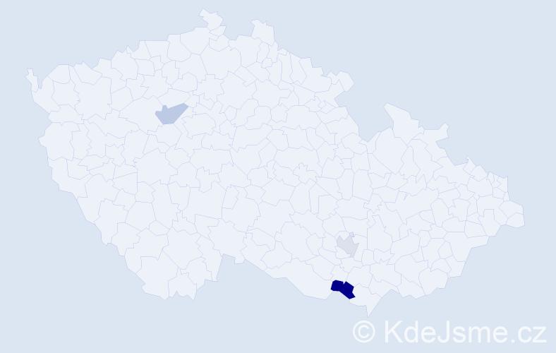 Příjmení: 'Himaľová', počet výskytů 8 v celé ČR
