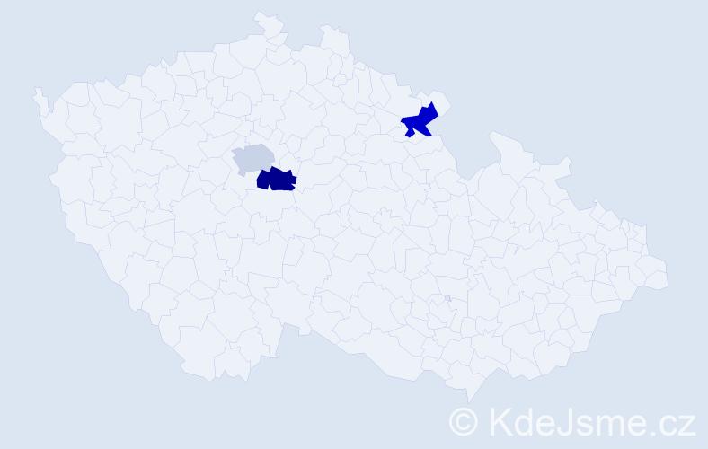 Příjmení: 'Čurneková', počet výskytů 3 v celé ČR