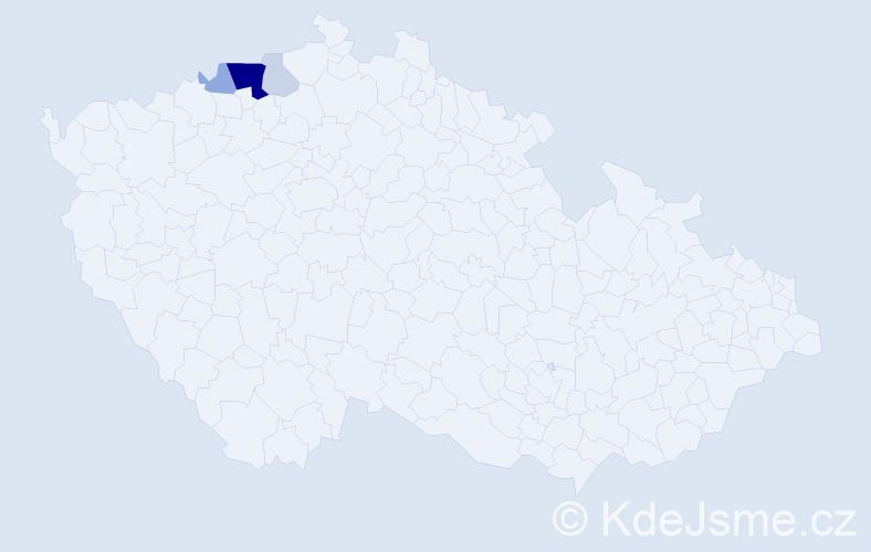 Příjmení: 'Eröšová', počet výskytů 13 v celé ČR