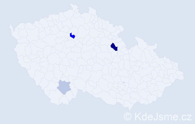 Příjmení: 'Altofová', počet výskytů 5 v celé ČR