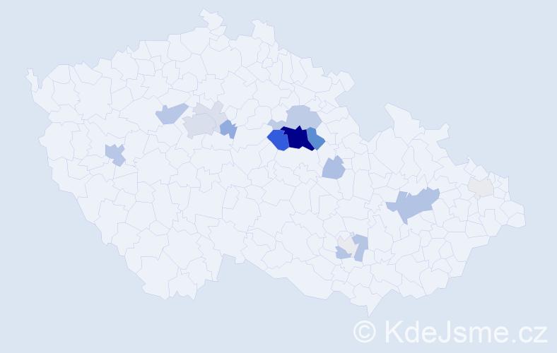 Příjmení: 'Jozífová', počet výskytů 62 v celé ČR