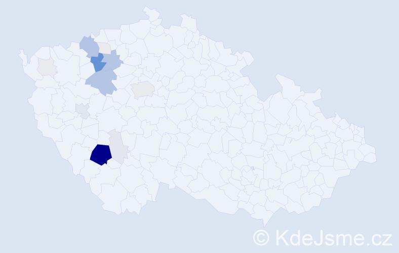 Příjmení: 'Irdza', počet výskytů 72 v celé ČR