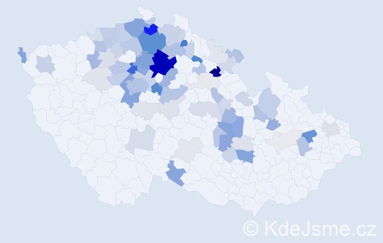 Příjmení: 'Libich', počet výskytů 259 v celé ČR