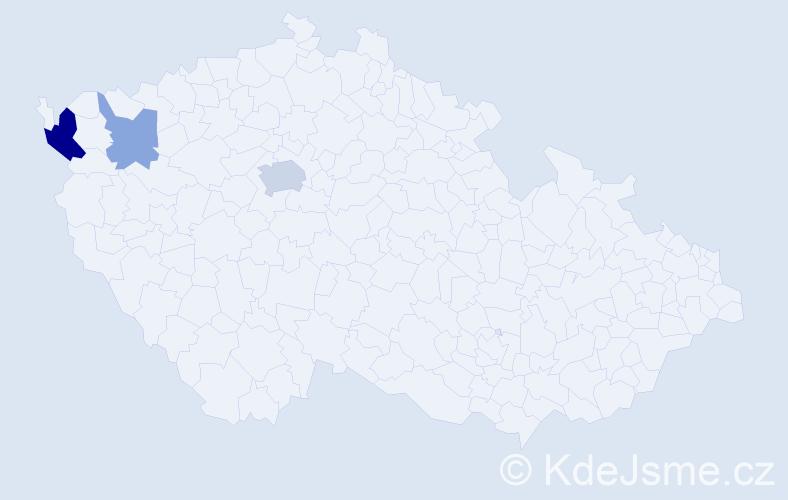 Příjmení: 'Cimrhakl', počet výskytů 7 v celé ČR