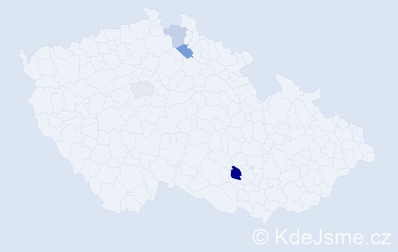 Příjmení: 'Adamičko', počet výskytů 12 v celé ČR