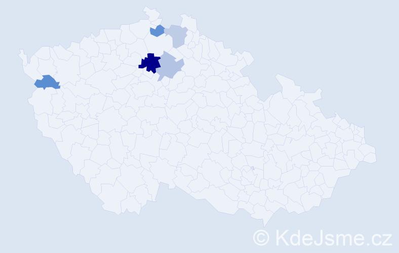 Příjmení: 'Lenča', počet výskytů 8 v celé ČR