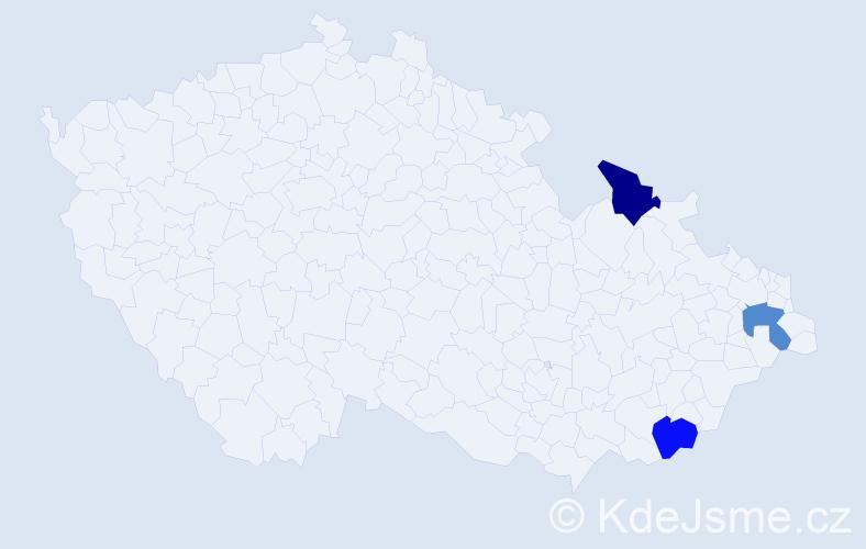 Příjmení: 'Ivičicová', počet výskytů 3 v celé ČR
