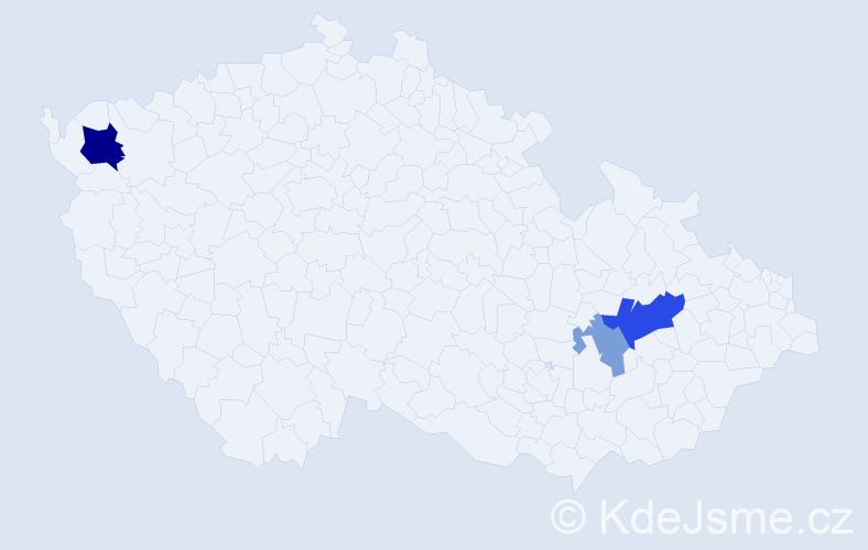 Příjmení: 'Feistl', počet výskytů 7 v celé ČR