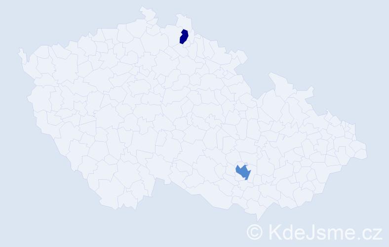 Příjmení: 'Balleyová', počet výskytů 3 v celé ČR