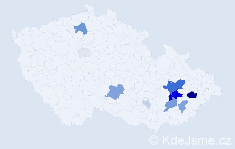 Příjmení: 'Leinert', počet výskytů 14 v celé ČR