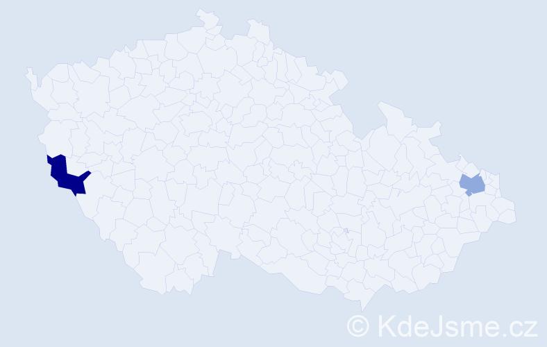 Příjmení: 'Konôpka', počet výskytů 2 v celé ČR
