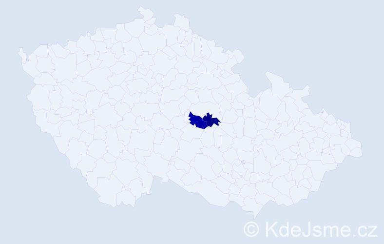 Příjmení: 'Janiczáková', počet výskytů 2 v celé ČR