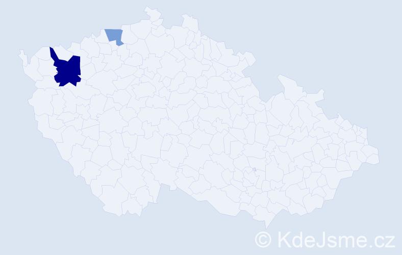 Příjmení: 'Ehlertová', počet výskytů 4 v celé ČR