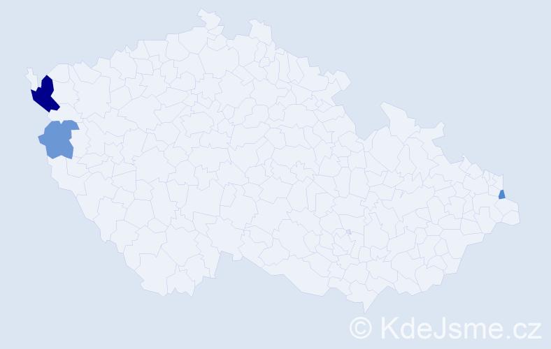 Příjmení: 'Händleinová', počet výskytů 6 v celé ČR