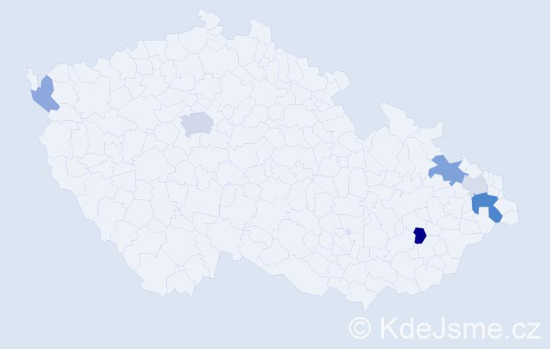 Příjmení: 'Dlhopolčeková', počet výskytů 14 v celé ČR