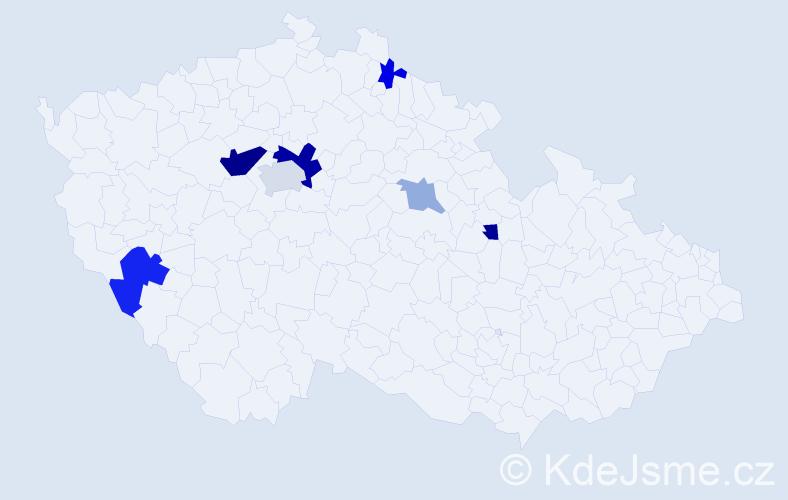 Příjmení: 'Gibišová', počet výskytů 16 v celé ČR