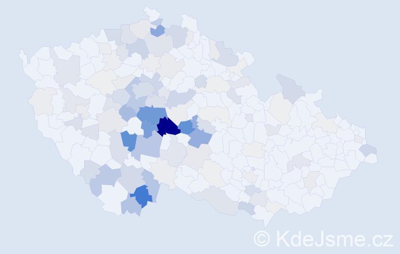 Příjmení: 'Kahounová', počet výskytů 532 v celé ČR