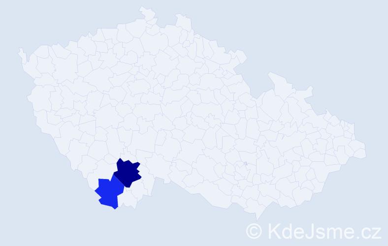Příjmení: 'Jůsková', počet výskytů 14 v celé ČR