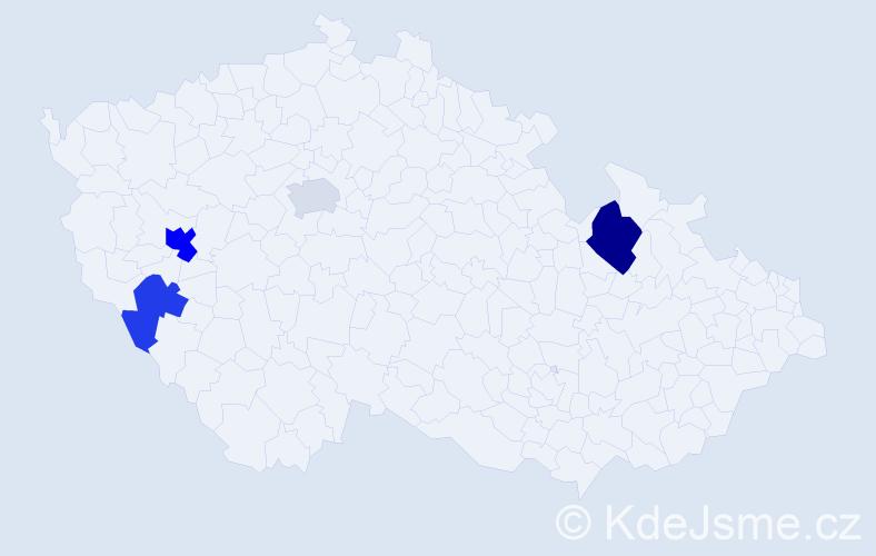 Příjmení: 'Kellich', počet výskytů 7 v celé ČR