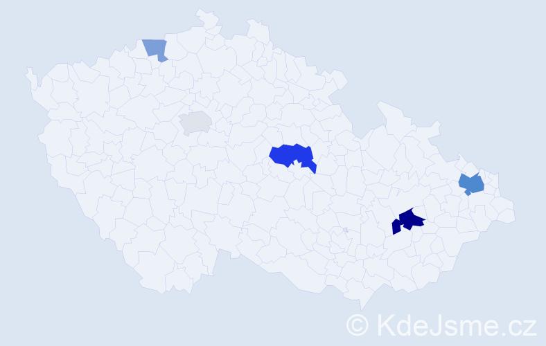 Příjmení: 'Gőrlichová', počet výskytů 11 v celé ČR