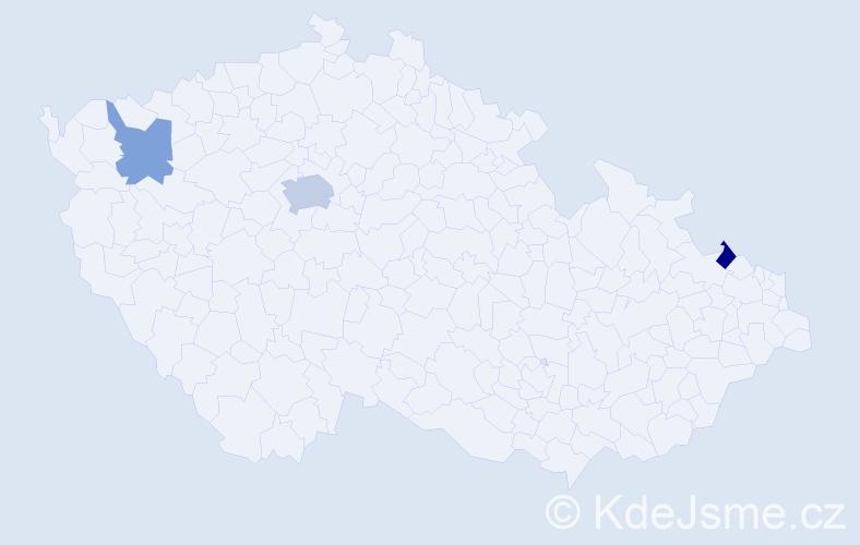 Příjmení: 'Faikis', počet výskytů 5 v celé ČR
