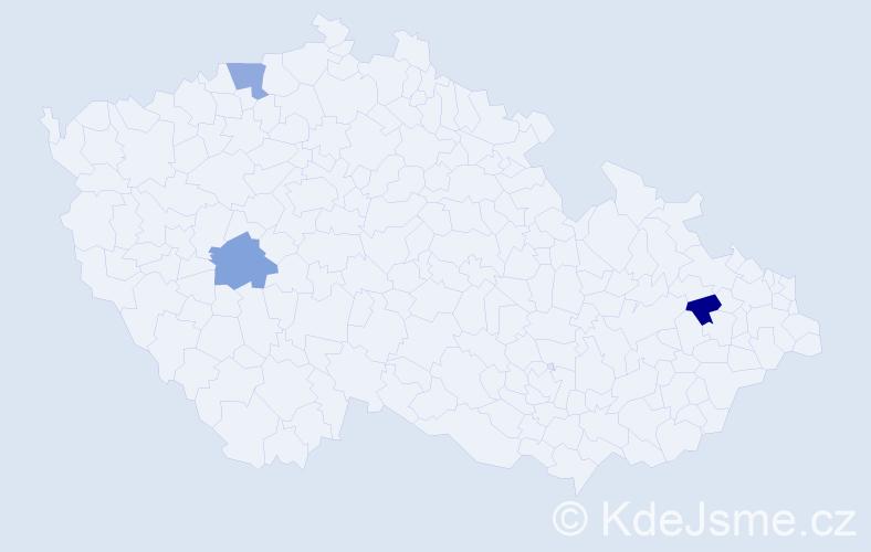 Příjmení: 'Cipová', počet výskytů 3 v celé ČR