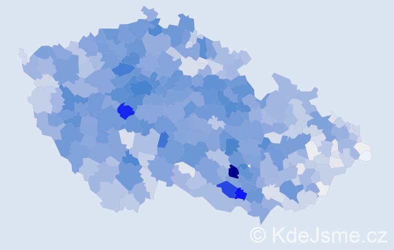 Příjmení: 'Hájková', počet výskytů 10691 v celé ČR