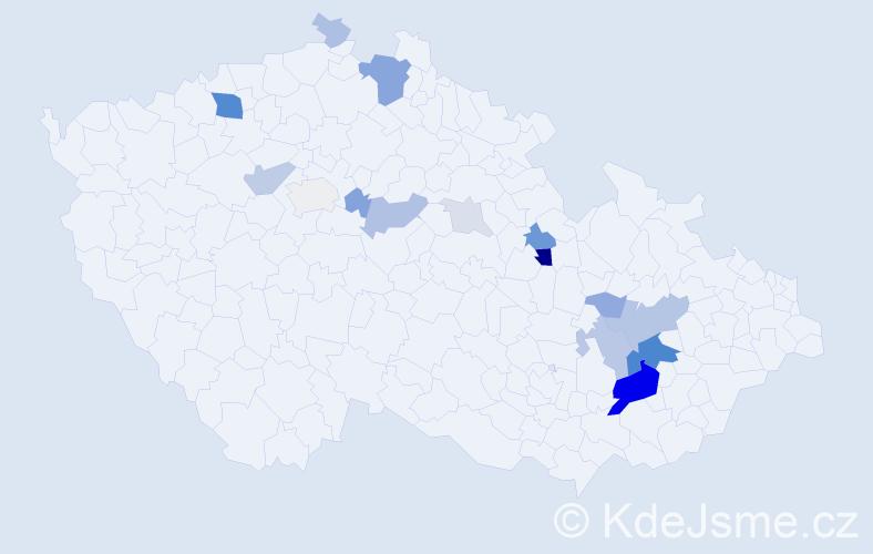 Příjmení: 'Gremlicová', počet výskytů 52 v celé ČR