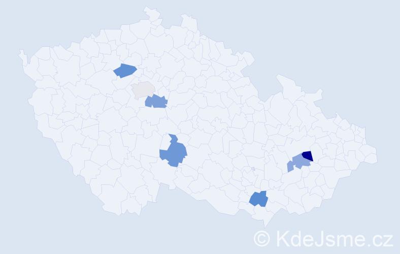 Příjmení: 'Ipriová', počet výskytů 7 v celé ČR